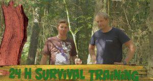 24-h-Survival-training-Pflanzliche-Notnahrung-Notunterkunft-Marius-auf-Fahrt-Affenrolle