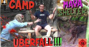Survival-Mattin-wird-im-CAMP-MONSTER-SHELTER-angegriffenKLOMayaSHELTERZAUNunk