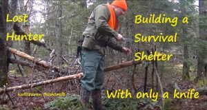 Lost-hunterBuilding-a-survival-shelter-using-only-a-knife-Part-1-1